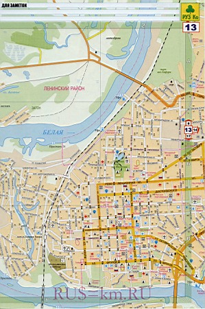 Подробная карта улиц