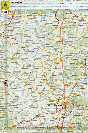 Карта авто дорог города Уфа и