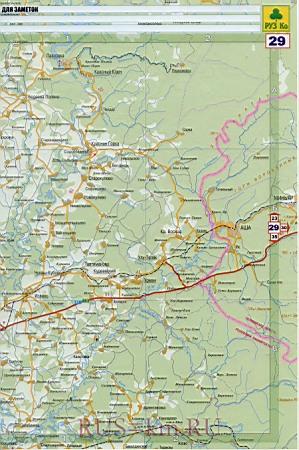 Карта дорог Уфы. Подробная