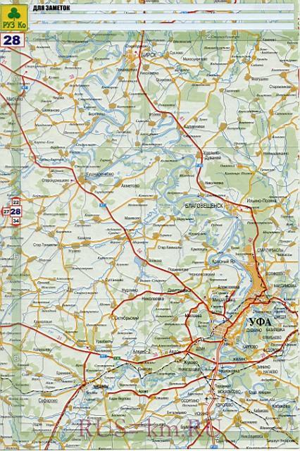 Карта дорог Стерлитамака.