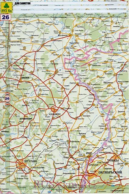 Карта дорог Туймазы. Детальная