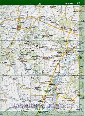 Карта Чекмагушевского Района Башкирии