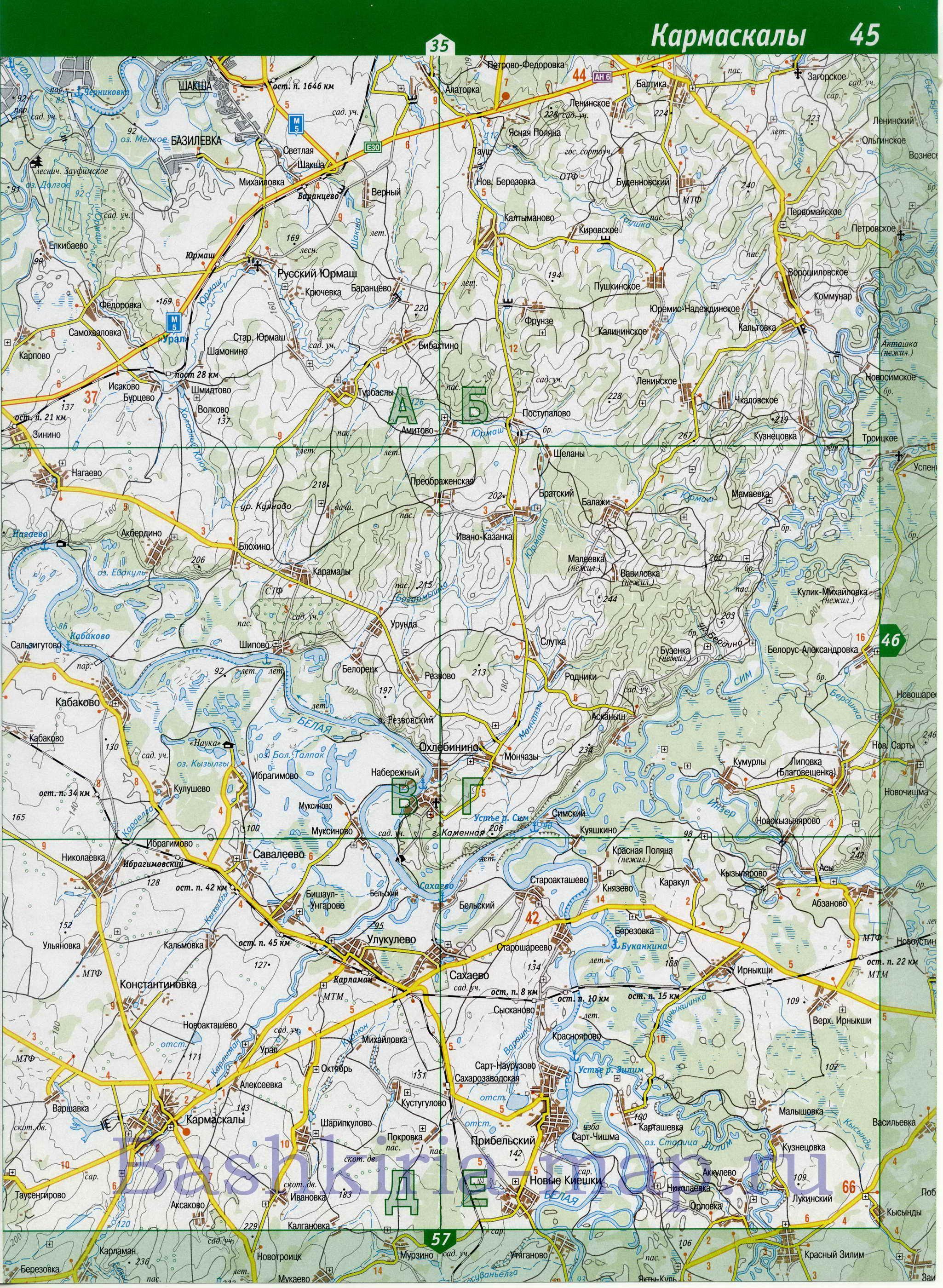 схема автодорог республики башкирия