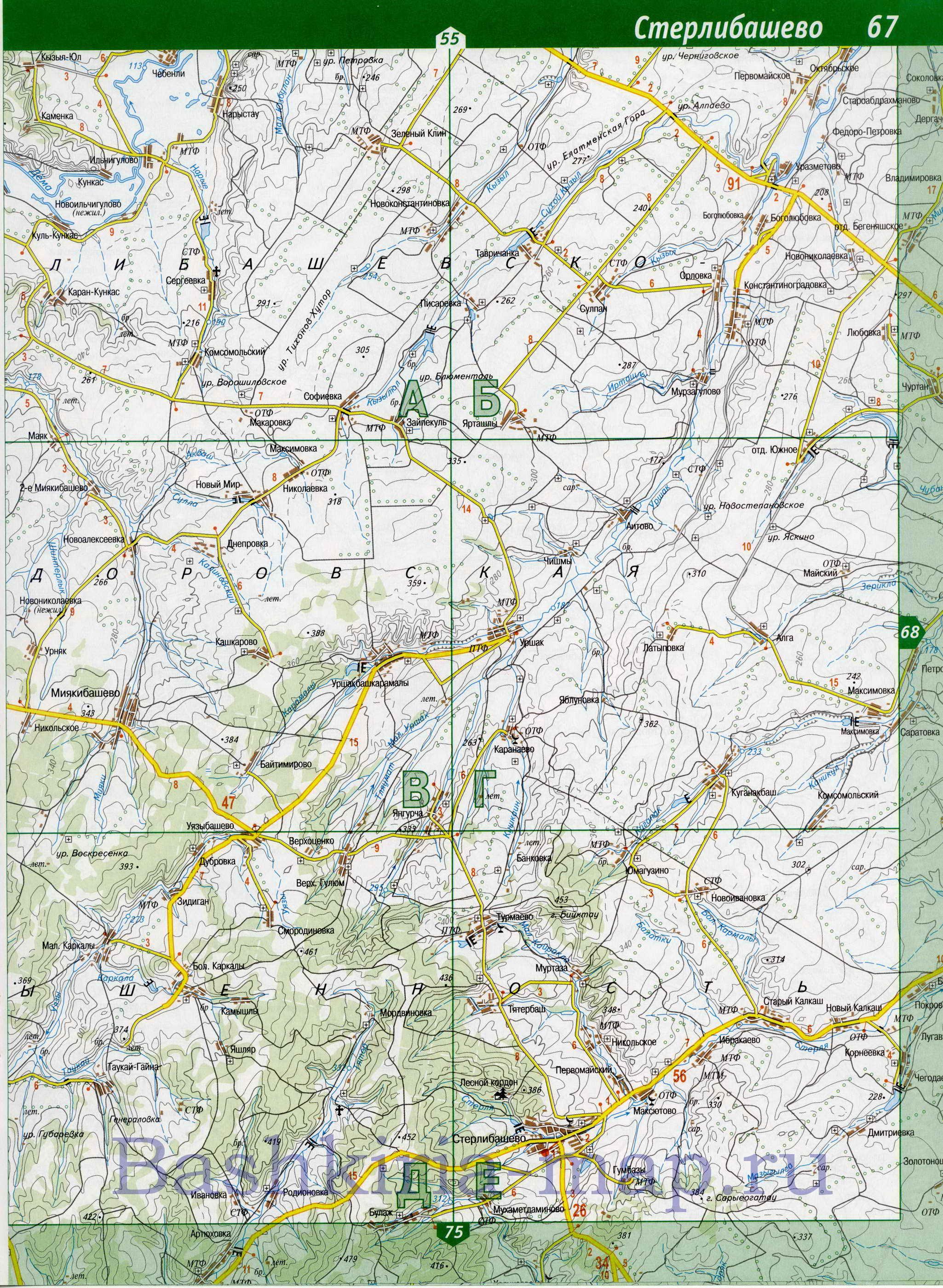 схема-карта стерлитамака