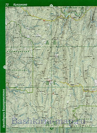 Башкортостана. Карта дорог