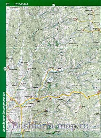 Карта зианчуринского района