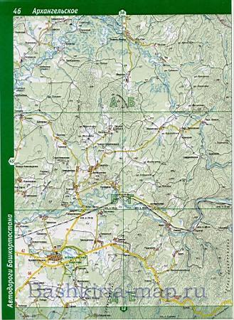 Карта Иглинского района