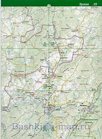 Топографическая Карта Башкортостана